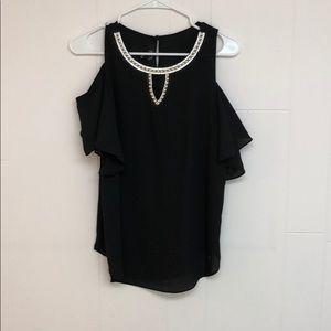 Tops - BCX Black too with sequins along neckline